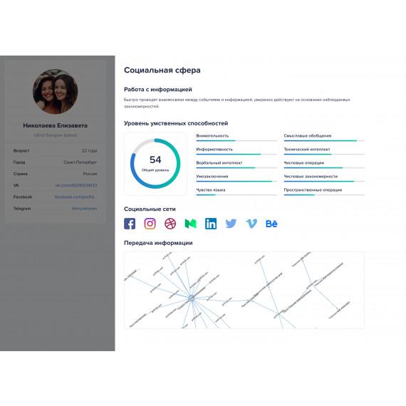 Комплексная система для работы с cоциально-психологическими и демографическими данными человека CV CODE